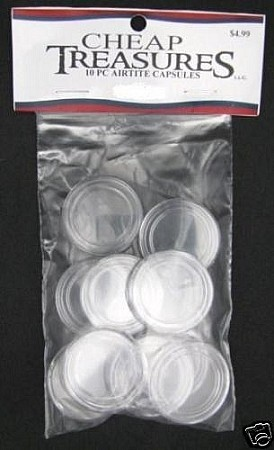 AirTite Coin Capsules 10 Pack 1/10 oz Gold/Platinum
