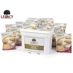 60 Serving Breakfast, Lunch, Dinner Emergency Bucket Legacy Food