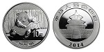 2014 Silver China Panda Coin 1 oz (Chinese) .999 Fine