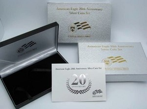 2006 20th Anniversary Silver Eagle Box Set Great for Gifts