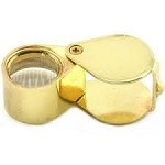 Coin Magnifier 10X 18mm Gold Loupe New