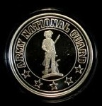 ARMY NATIONAL GUARD .999 SILVER ROUND 1 OZ