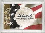 Harris Frosty Case - Flag 2x3 Silver Eagle