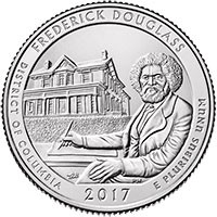 2017 Frederick Douglass National Historic Site (DC) America National Park Quarter P
