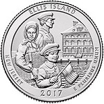 2017 Ellis Island (Statue of Liberty National Monument) (NJ) America National Park Quarter P
