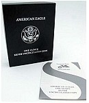 2007 W Burnished Silver Eagle (Box & COA)