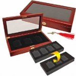 Deluxe Wood 4 Slab Coin Display Box 78056-34