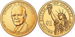 2015 Dwight D. Eisenhower Presidential Dollar D