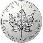 Canada Silver Maple 1 oz .999 Fine Silver Year of Our Choice