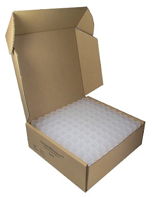 Case of 100 Guardhouse Dime Square Coin Storage Tubes