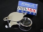 Whitman Retail Pack Magnifier, 16x Loupe