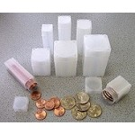 Cent Numis Square Coin Storage Tubes Individual