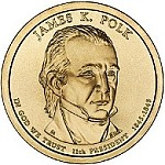 2009 James K. Polk Presidential Gold D Mint Dollar