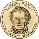 2009 Zachary Taylor Presidential Gold P Mint Dollar