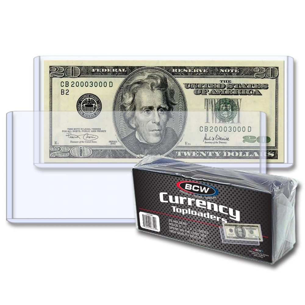 BCW Modern Currency Top Loaders Pack of 25