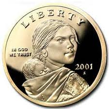 2001 S Proof Native American Sacagawea Dollar