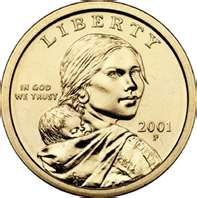 2001 Native American Sacagawea Dollar P