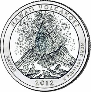 2012 Hawaii Volcanoes National Park Quarter D
