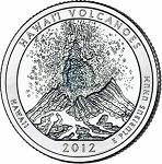 2012 Hawaii Volcanoes National Park Quarter P
