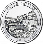 2012 Chaco Culture National Park Quarter P