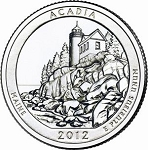 2012 Acadia National Park Quarter P