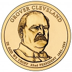 2012 Grover Cleveland Presidential Dollar (First Term) D