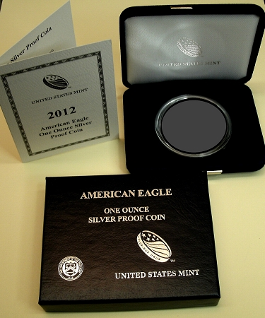 2012 Silver Proof Eagle Gift Display Boxes Original US Mint