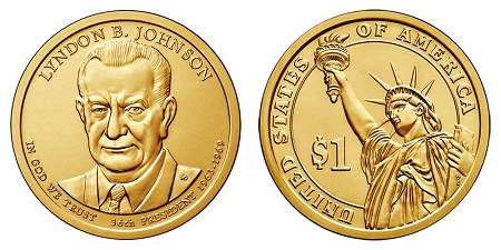 2015 Lyndon B. Johnson Presidential Dollar P