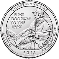 2016 Cumberland Gap National Historic Park America National Park Quarter P