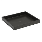 BLACK STACKABLE HALF TRAY 1