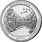 2011 Chickasaw National Park Quarter P