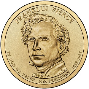 2010 Franklin Pierce Presidential Dollar D Mint