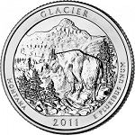 2011 Glacier Montana National Park Quarter P