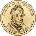 2009 William Henry Harrison Presidential Gold P Mint Dollar