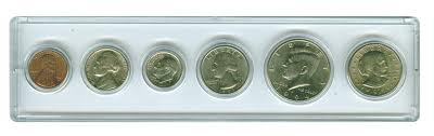 Sm Dollar Whitman Year Set 6 Coin Snap-Tite Holders