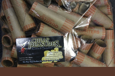 QUARTER Coin Wrappers 100 Pack (Pre-crimped)