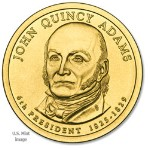 2008 John Quincy Adams Presidential Gold D Mint Dollar