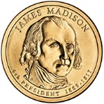 2007 James Madison Presidential Gold D Mint Dollar