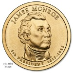 2008 James Monroe Presidential Gold Dollar D Mint