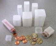 Nickel Numis Square Coin Storage Tubes Individual