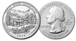 2014 Great Smoky Mountains Tennessee National Park Quarter D