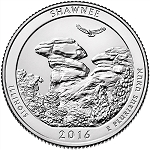 2016 Shawnee National Forest America National Park Quarter P