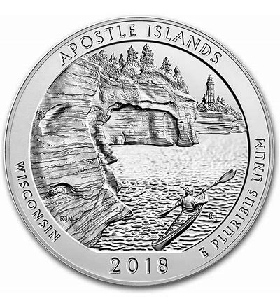 2018 Apostle Islands National Historical Park (WI) America National Park Quarter D