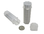 Individual Nickel Guardhouse Square Coin Storage Tubes