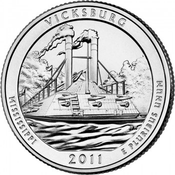 2011 Vicksburg Mississippi National Park Quarter P