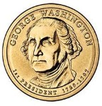 2007 George Washington Presidential Gold Dollar D Mint