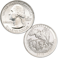 2010 Yellowstone National Park Quarter D
