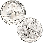 2010 Yellowstone National Park Quarter P
