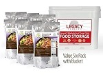 6 1lb Bags 96 Servings 100% USDA Freeze Dried Beef Cubed Bucket Legacy Foods