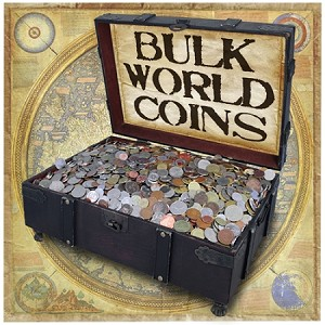 Unsearched Foreign World Coins by the Pound 90 to 110 pcs